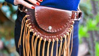 Кожаный кошелек на пояс своими руками