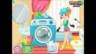 Clumsy Gardener Laundry-Full Game Movie For Kids-Best Kids Games