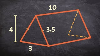 How to find the volume or a triangular prism
