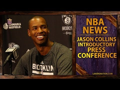 NBA History: Jason Collins Introductory Brooklyn Nets Press Conference