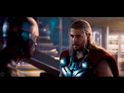 幻視舉起索爾的槌子 所以人都驚呆了 復仇者聯盟2:奧創紀元 ll 精選電影畫面 HD