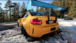 M2 RACE-CAR GETS STUCK IN THE SNOW!