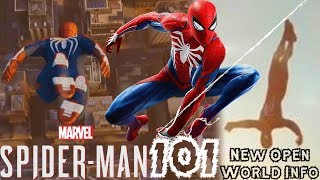 Spider-Man PS4: 101 - NEW Open World Info!!! IMPROVED Dive Bomb, Air Tricks, & More!!!