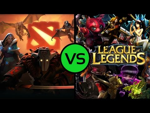 DOTA 2 VS LEAGUE of LEGENDS
