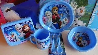 Disney Frozen Elsa & Anna Mealtime Set + Drink & Chocolate Dragee 겨울왕국
