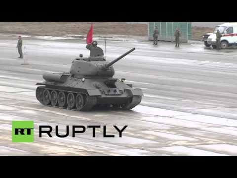 Russia: Massive training drills continue for 2016 Victory Day Parade
