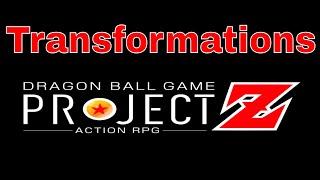 Dragon Ball Game Project Z Transformations Wishlist