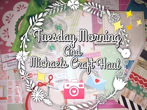 Quick Tuesday Morning + Michaels Craft Haul!! ✨