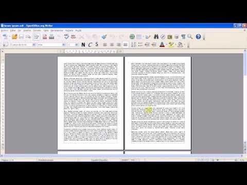 OpenOffice - Writer - Opciones y modos de visualización