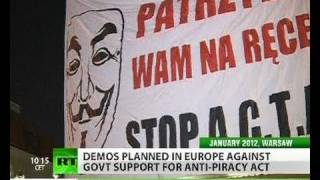 Anonymous vows to fight ACTA across Europe