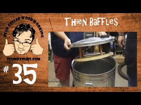 Thien Baffle & Wynn Filter for upgrade Harbor Freight Dust Collector-Woodworking with Stumpy Nubs 35