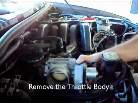 Check Engine light Code P0506 Throttle Body removal for cleaning video # 1