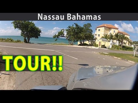 Nassau Bahamas Virtual Tour: Drive around the ENTIRE island! Part 1
