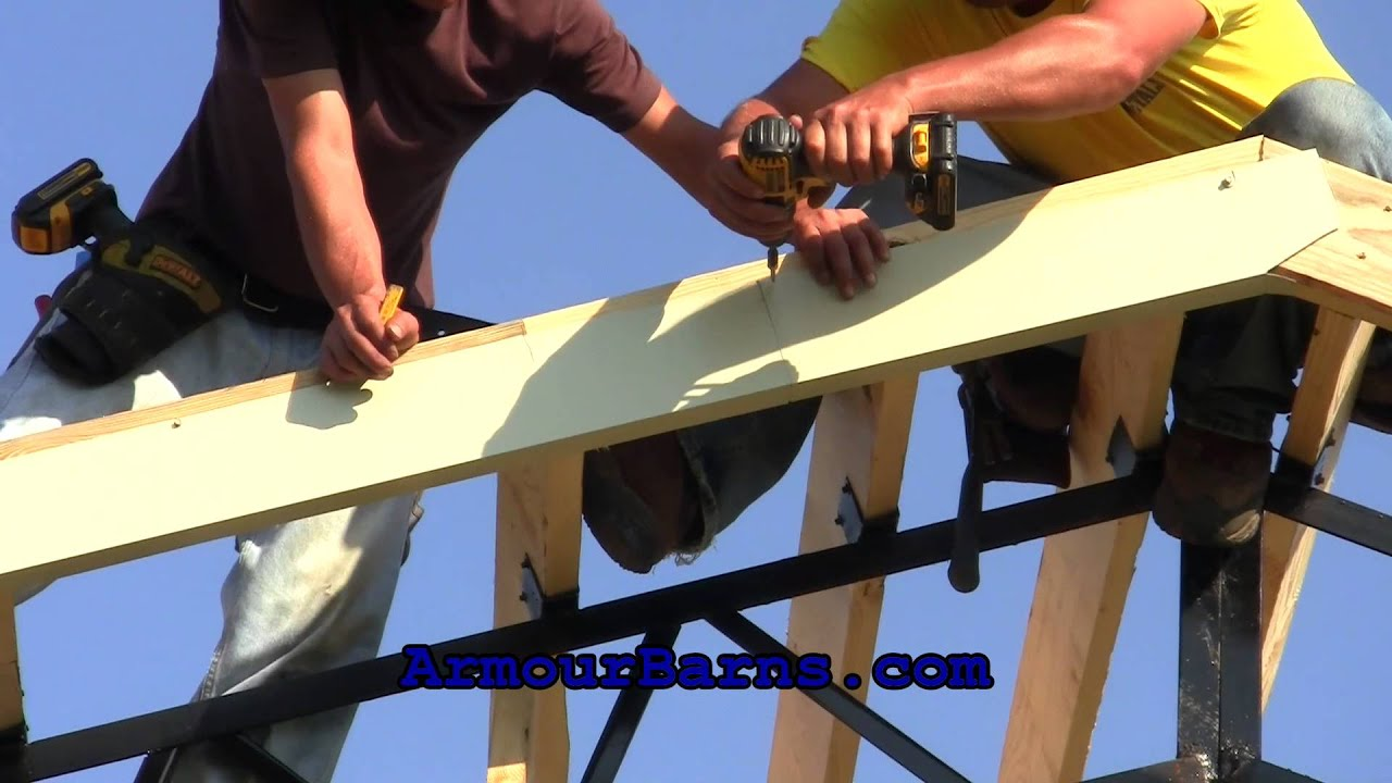 20x40x12 Steel Truss Pole Barn Kit Part 3 How We Install