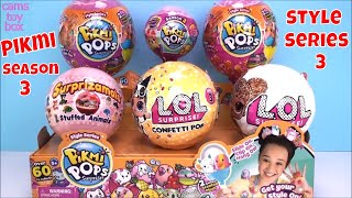 PIKMI Pops Style Series 3 LOL Surprise Dolls Glitter Confetti Toys Surprises Unboxing