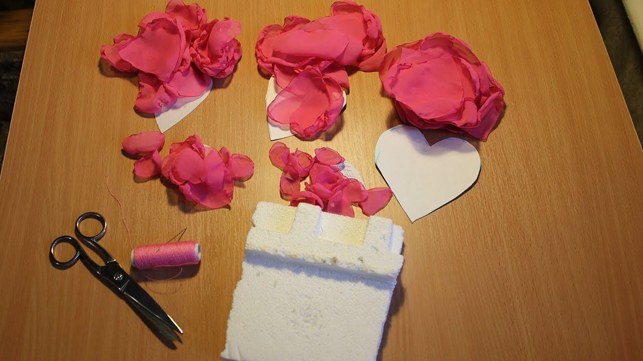 Розы из шифона своими руками мастер класс 47