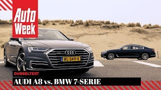 Audi A8 vs. BMW 7-serie - AutoWeek Dubbeltest - English subtitles