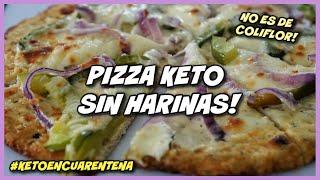 PIZZA BAJÍSIMA EN CARBOHIDRATOS SIN HARINA DE ALMENDRAS   KETO CHICKEN CRUST PIZZA DIETA CETOGÉNICA