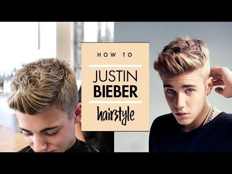Justin Bieber Hair Tutorial   Men's Celebrity Hairstyle   By Vilain Gold Digger