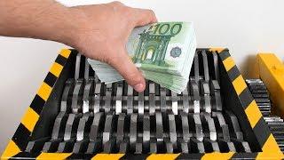 NEVER DO THIS! - Shredding REAL Money