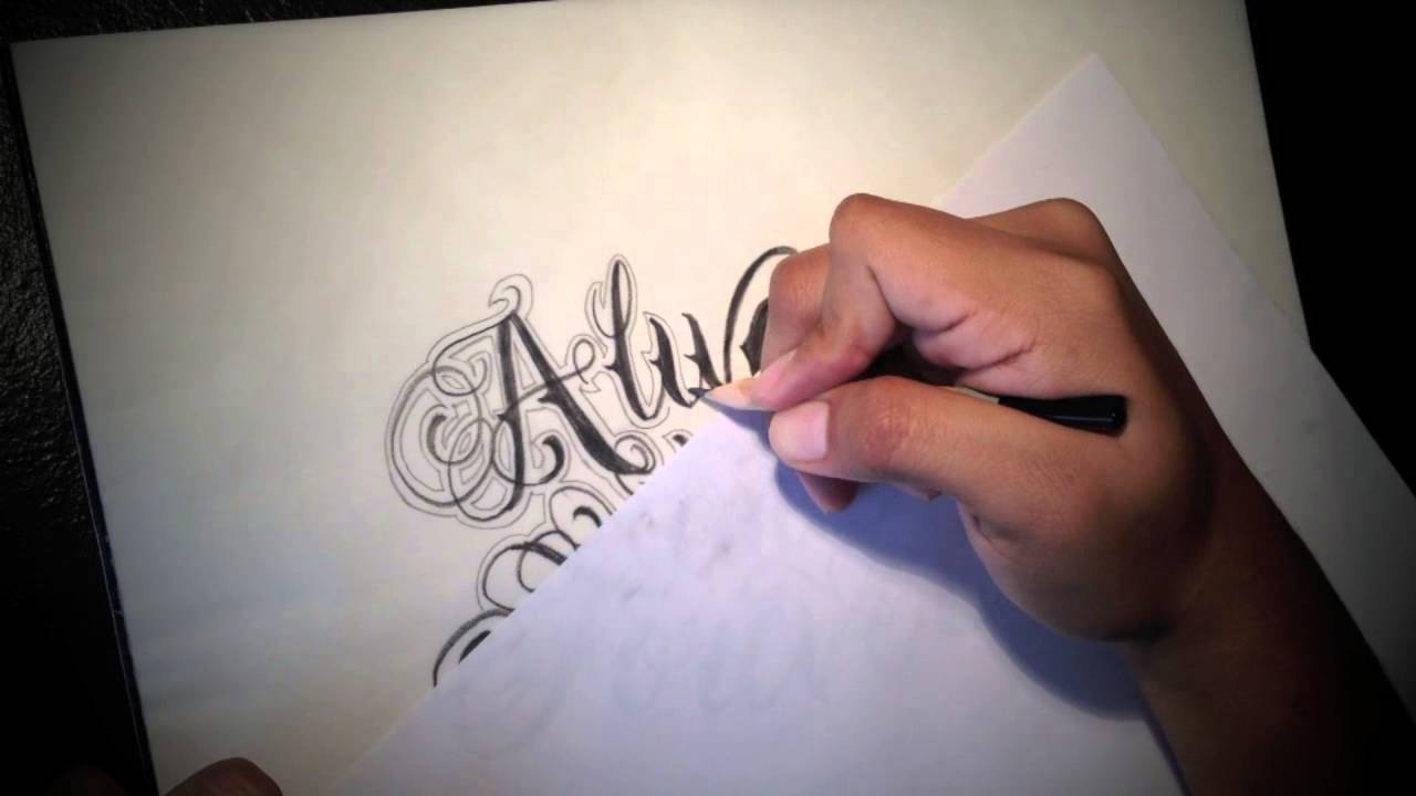 Always and Forever... Cursive Lettering - YouTube