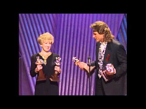 """Billy Dean wins the Song of the Year award for """"Somewhere in my Broken Heart."""" He thanks his co-writer, publisher, radio, record label, and the fans. Presented by Tanya Tucker, Mark Miller..."""