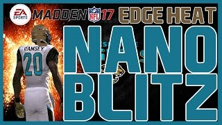 Madden 17: UNSLIDABLE 5 Man Edge Heat!! 4-4 Split - Cover 2 Invert! Fast/Easy Nano Blitz!