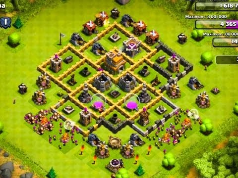 The 2 Best Defense Bases For Town Hall Level 7 - Clash Of Clans Defense Strategy