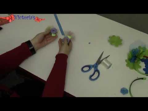 Como hacer lazos y cintillos: Ganchos de Rosas 2/2
