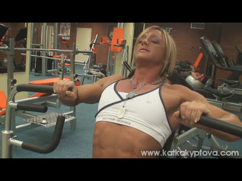 Katka Kyptova Chest workout - preparation for Arnold Classic 2010