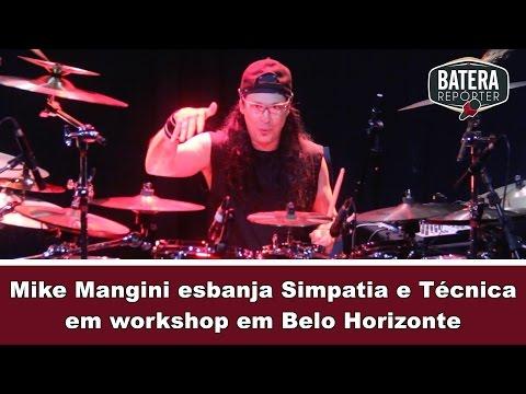 🔴  Mike Mangini esbanja simpatia e técnica em Workshop em Belo Horizonte - Batera Repórter #13