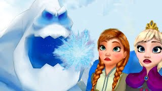 Eva Froze Arendelle ! Merida Saves Jack ! Frozen Princess Parody