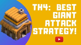 TH4: Clash of Clans best giant attack strategy! (2019)