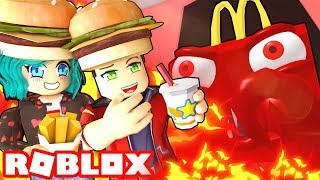 We must ESCAPE Roblox McDonalds or else!