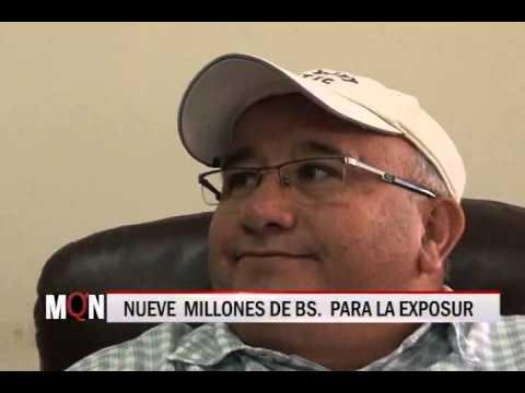 29/10/2014-16:09 NUEVE MILLONES DE BS  PARA LA EXPOSUR