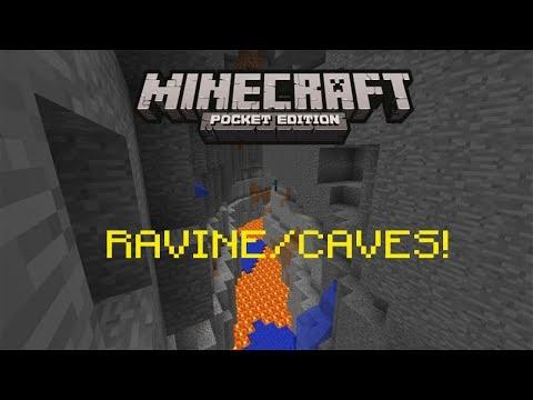 Minecraft PE: RAVINE AND CAVE SEED!