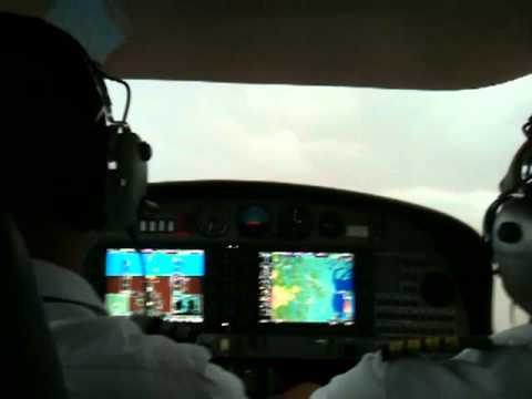 Flying a DA42 in ( Instrument meteorological condition IMC ). Ipoh to Subang, Malaysia...