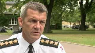 Interview med forsvarschef Peter Bartram