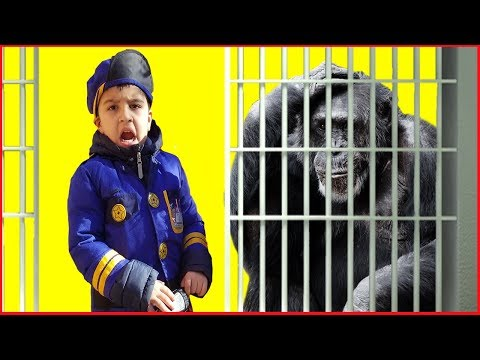 COPS VS GORILLA escaped || pretend play funny videos for kids || mcdonalds jai bista show