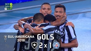 Botafogo 2 x 1 Bahia - Sul-Americana 2018 - Globo HD⁶⁰