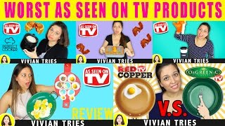WORST AS SEEN ON TV PRODUCTS | FLIPPIN FANTASTIC, PERFECT COOKER, ORGREENIC, BACON BOSS, ROLLIE