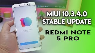 MIUI 10.3.4.0 Stable Update Rolled out In China REDMI NOTE 5 PRO | Hindi