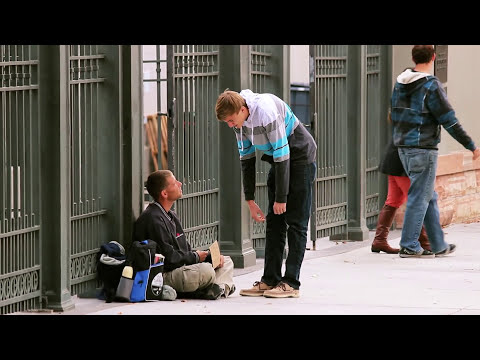 Giving $100 to Homeless People