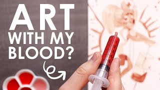 PAINTING with my BLOOD (NOT CLICKBAIT)