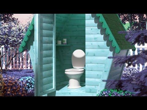 Фазенда.туалет на даче своими руками