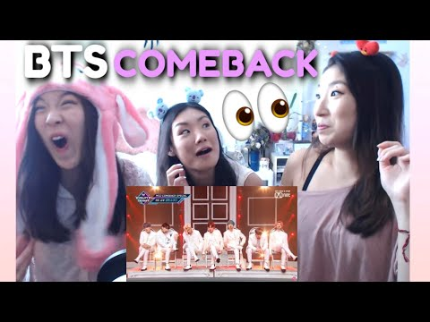 Download BTS - DIONYSUS + MAKE IT RIGHT + BOY WITH LUV Sisters Reaction | Comeback Special Stage M COUNTDOWN Mp4 baru
