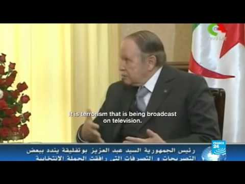 Algerian president in rare appearance as election campaign ends