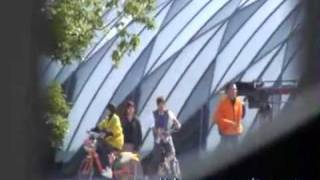 100114 Goo Hye Sun and AAron biking shooting scene in Taiwan