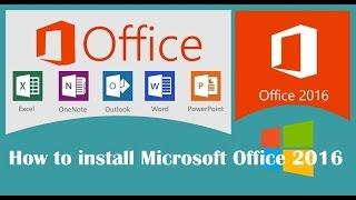 شرح كيفية  تحميل وتثبيت حزمة الاوفيس |  FR - Microsoft Office 2016 -