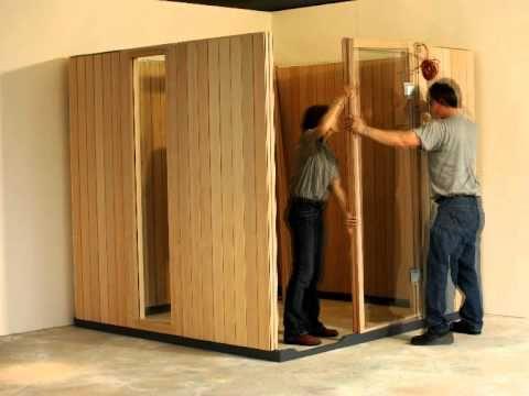klafs sauna spa wellness aufbau sauna home youtube. Black Bedroom Furniture Sets. Home Design Ideas